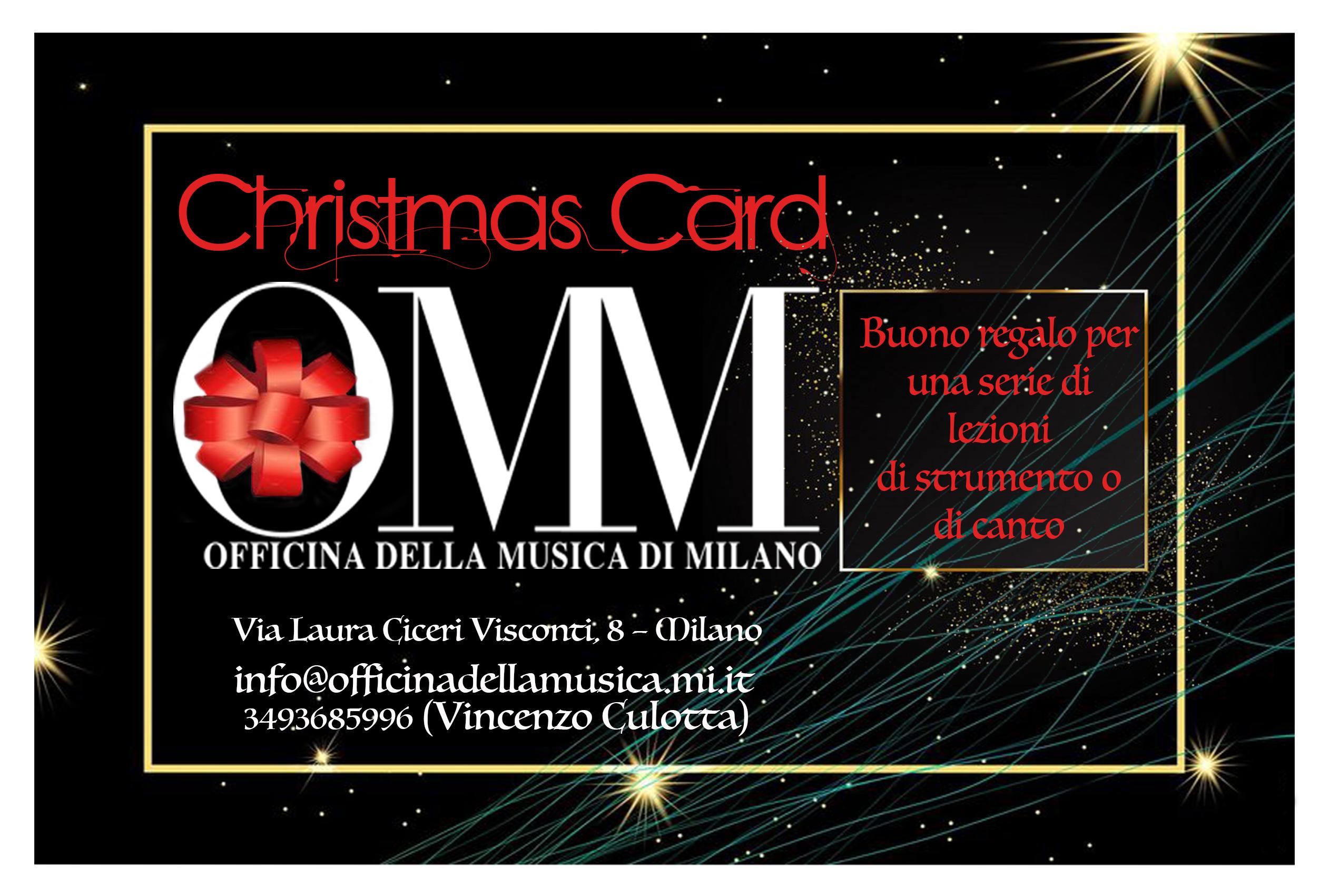 Christmas Card Pacchetto di lezioni di canto o strumento